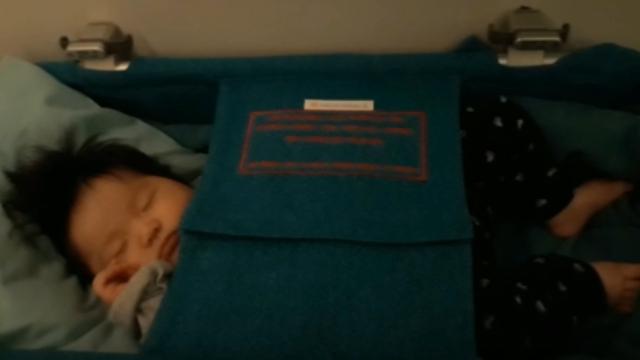 ベトナム航空の赤ちゃん用ベッド