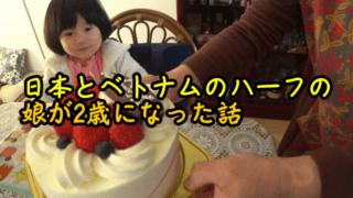 日本とベトナムのハーフの娘が2歳になった話